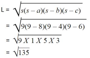 contoh soal segitiga sembarang