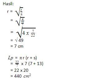 rumus mencari luas permukaan kerucut matematika